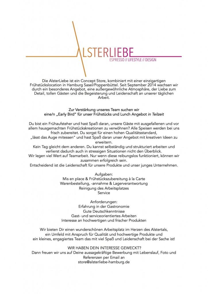 Stellenausschreibung - AlsterLiebe Concept Store